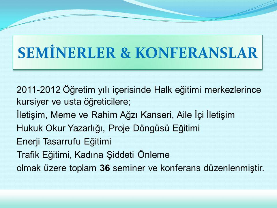SEMİNERLER & KONFERANSLAR