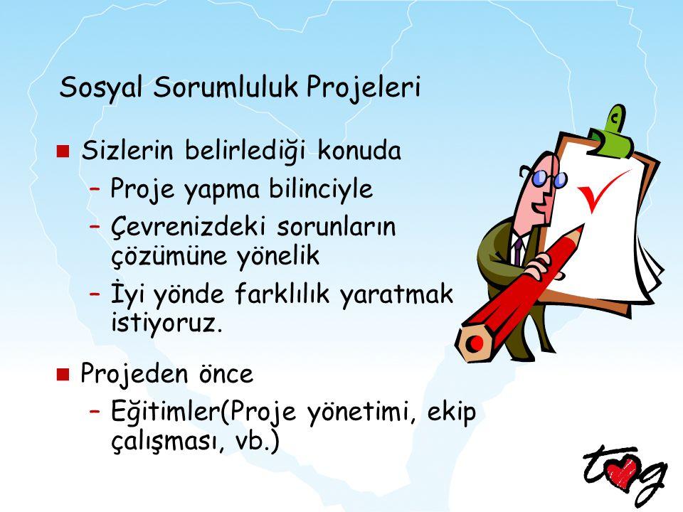 Sosyal Sorumluluk Projeleri