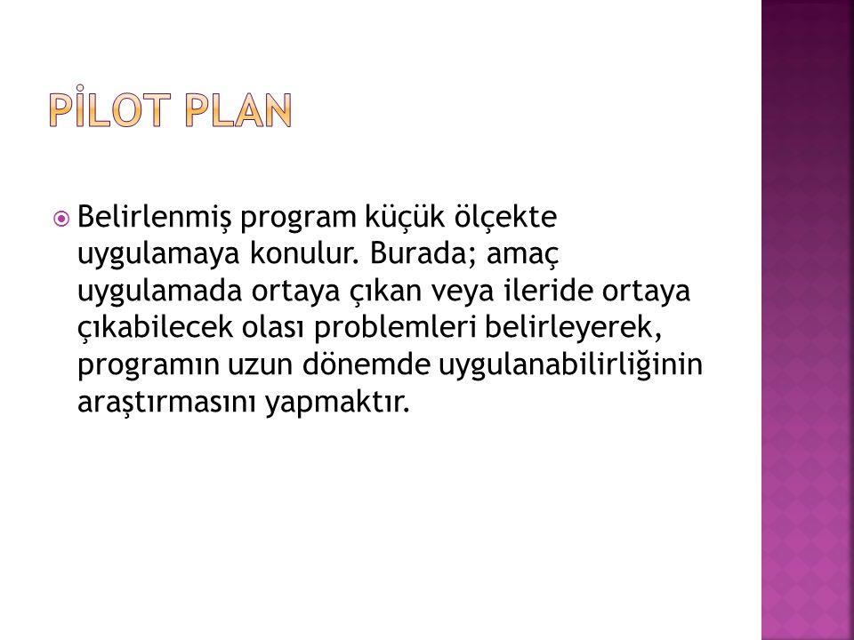 PİLOT PLAN