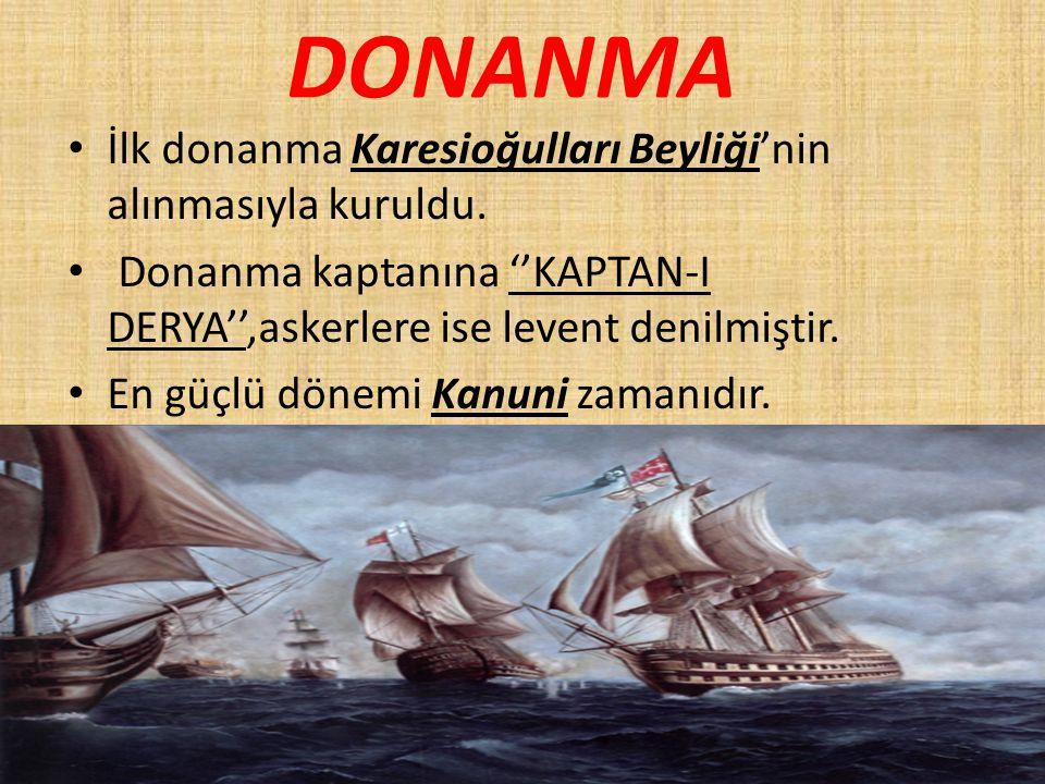 DONANMA İlk donanma Karesioğulları Beyliği'nin alınmasıyla kuruldu.