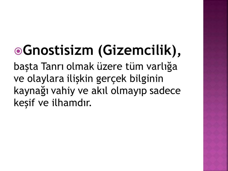 Gnostisizm (Gizemcilik),