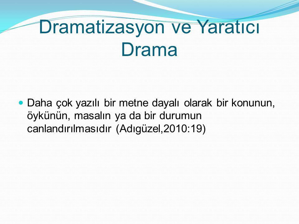 Dramatizasyon ve Yaratıcı Drama