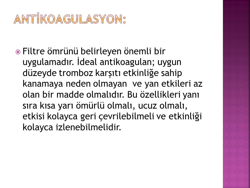 Antİkoagulasyon: