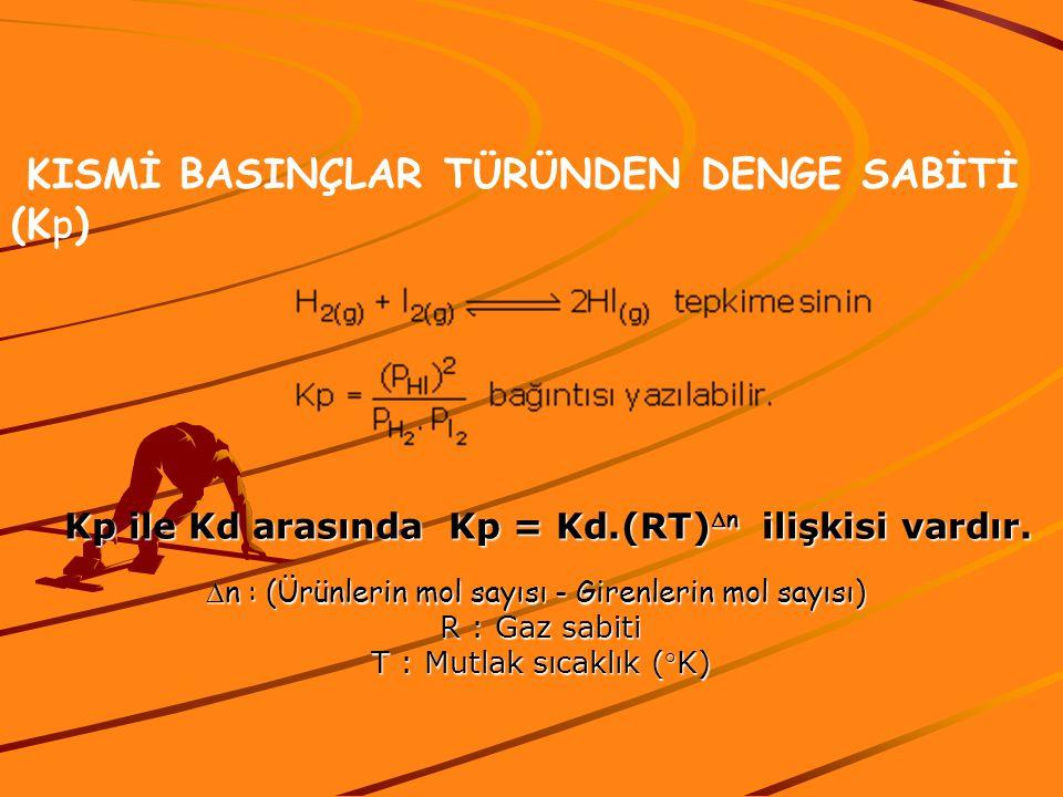 Kp ile Kd arasında Kp = Kd.(RT)Dn ilişkisi vardır.