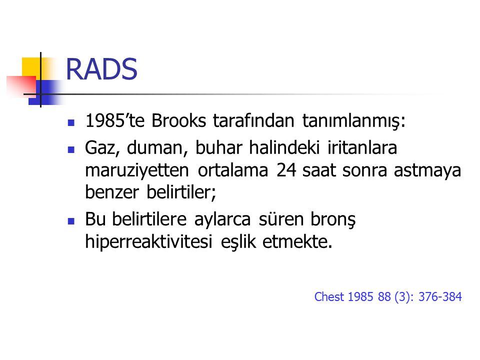 RADS 1985'te Brooks tarafından tanımlanmış: