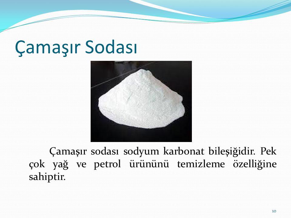 Çamaşır Sodası Çamaşır sodası sodyum karbonat bileşiğidir.