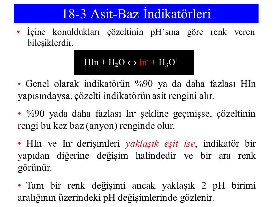 18-3 Asit-Baz İndikatörleri