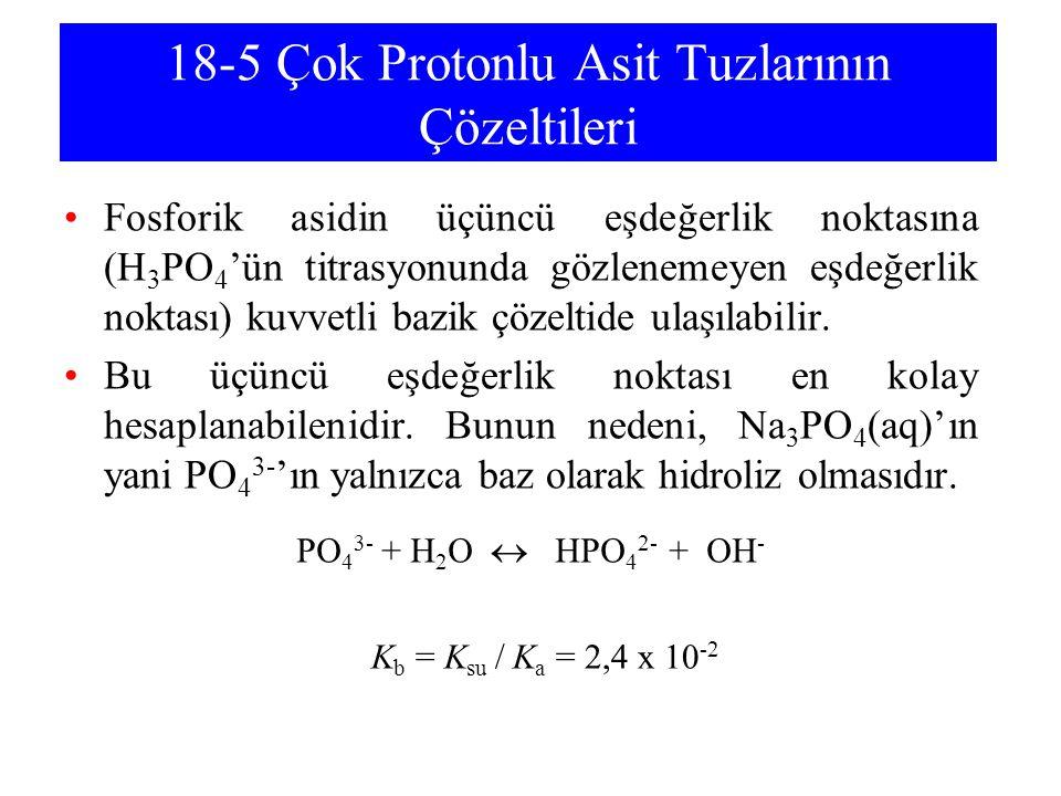 18-5 Çok Protonlu Asit Tuzlarının Çözeltileri