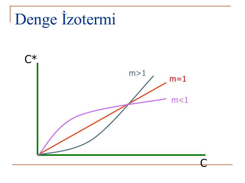 Denge İzotermi C* m>1 m=1 m<1 C