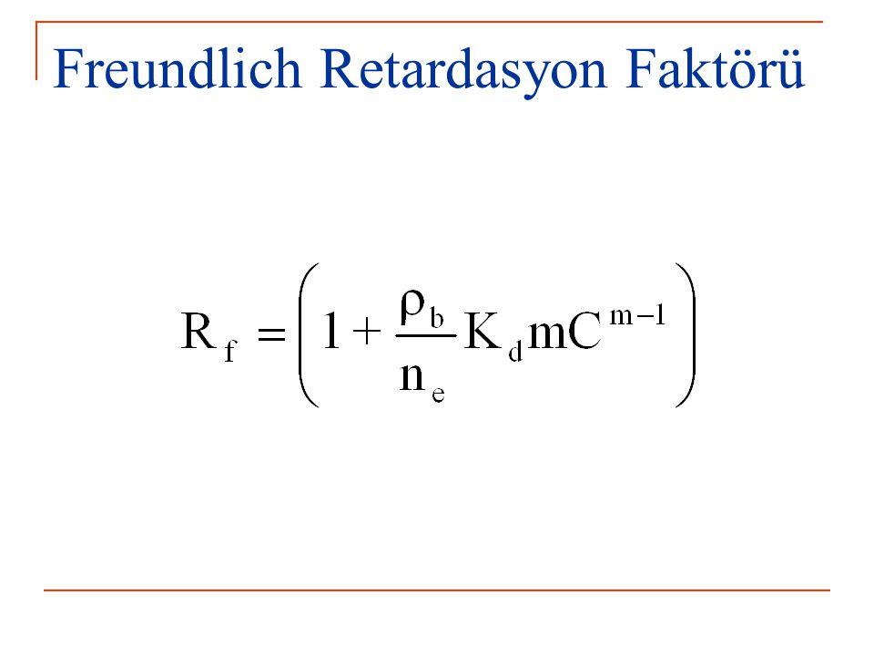Freundlich Retardasyon Faktörü