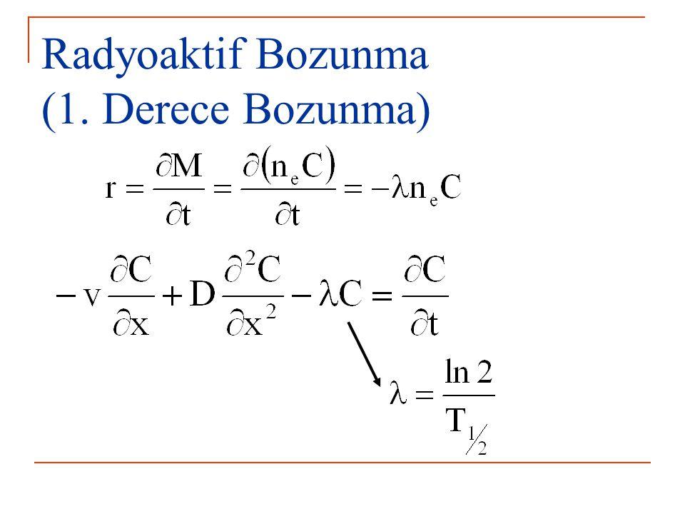 Radyoaktif Bozunma (1. Derece Bozunma)