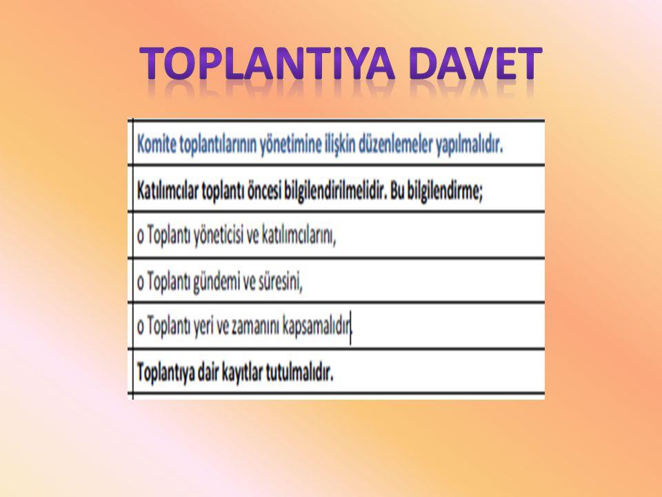 TOPLANTIYA DAVET
