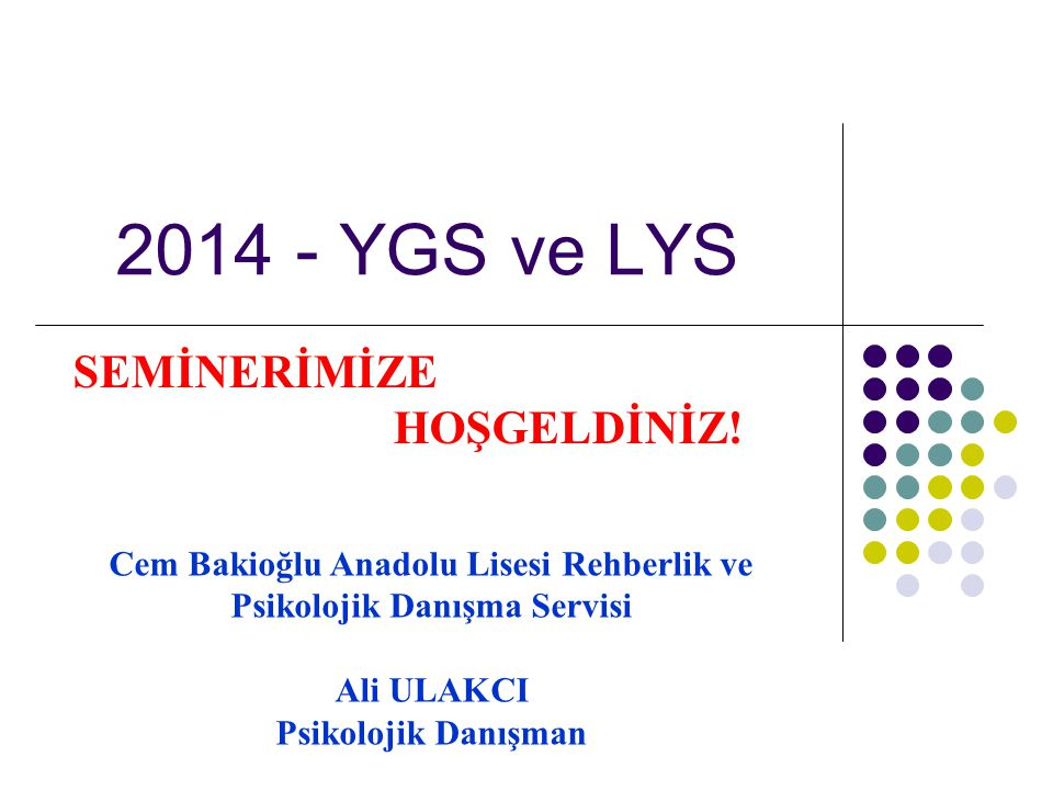 Cem Bakioğlu Anadolu Lisesi Rehberlik ve Psikolojik Danışma Servisi