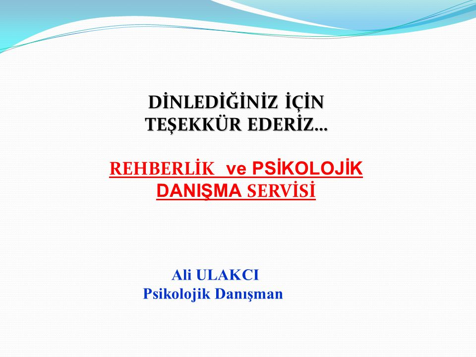 REHBERLİK ve PSİKOLOJİK