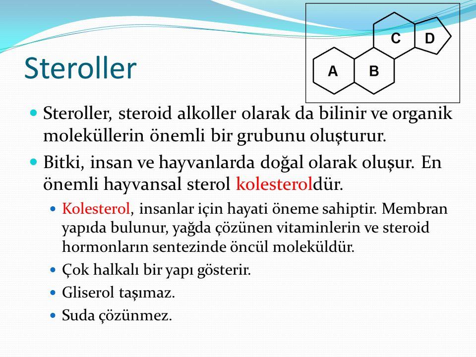 Steroller Steroller, steroid alkoller olarak da bilinir ve organik moleküllerin önemli bir grubunu oluşturur.