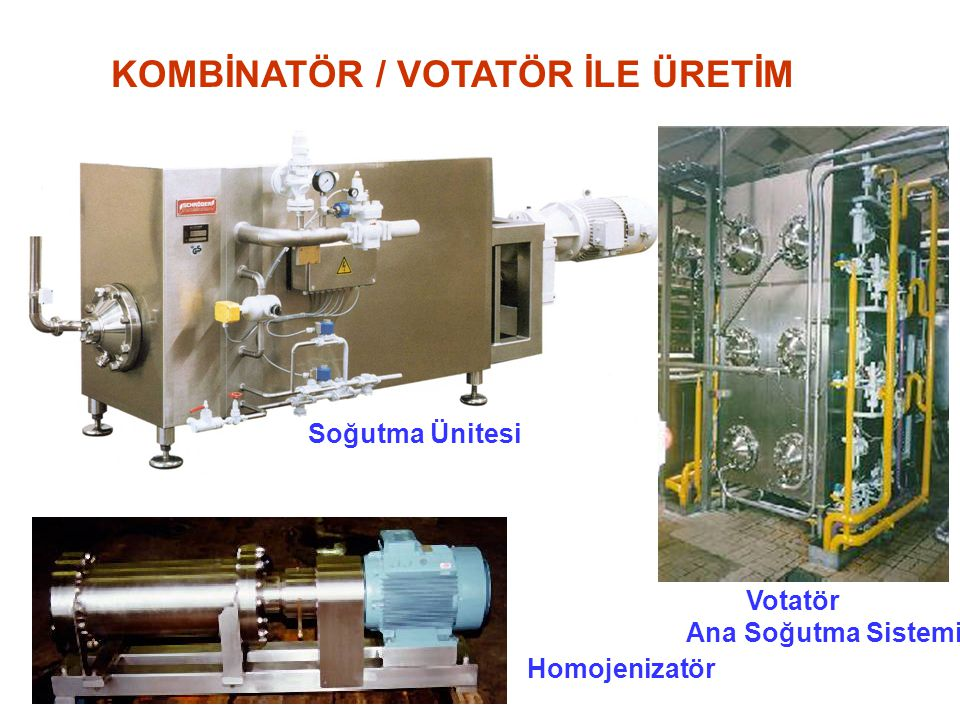 KOMBİNATÖR / VOTATÖR İLE ÜRETİM