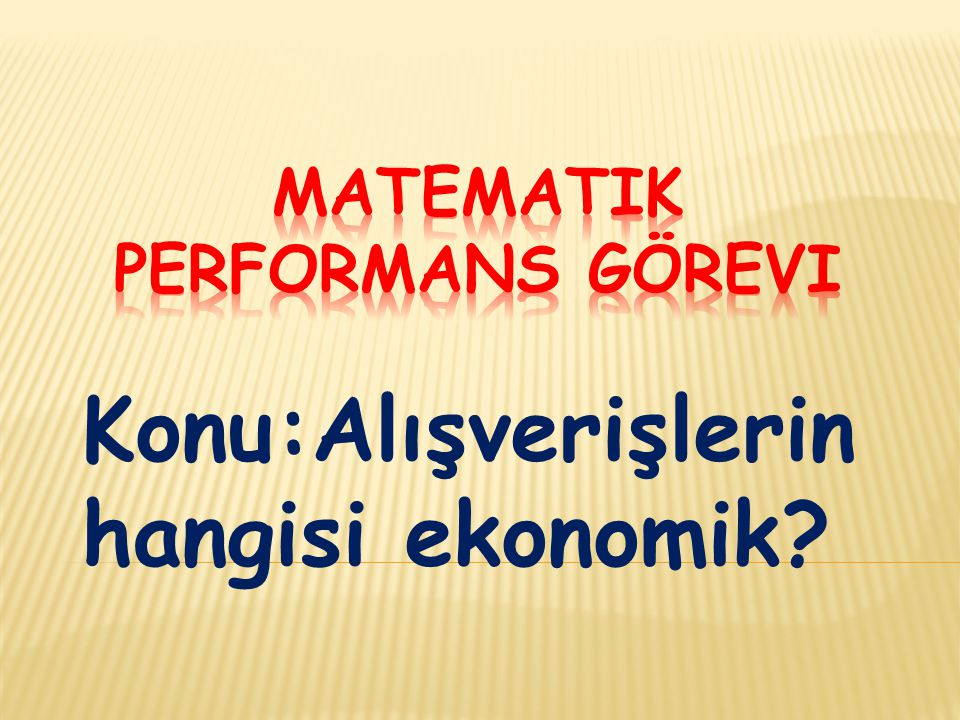 Matematik performans görevi