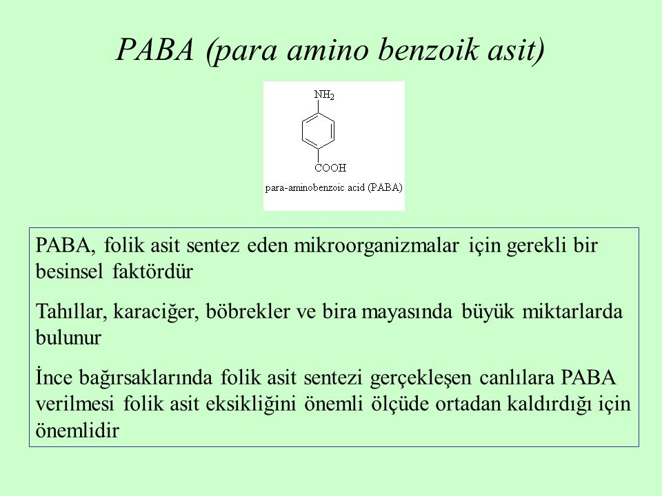 PABA (para amino benzoik asit)