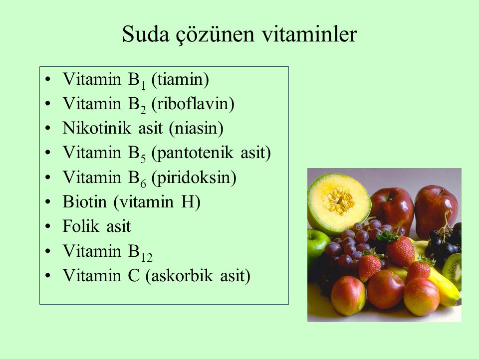 Suda çözünen vitaminler