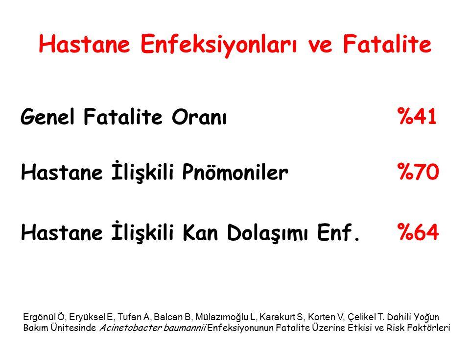 Hastane Enfeksiyonları ve Fatalite