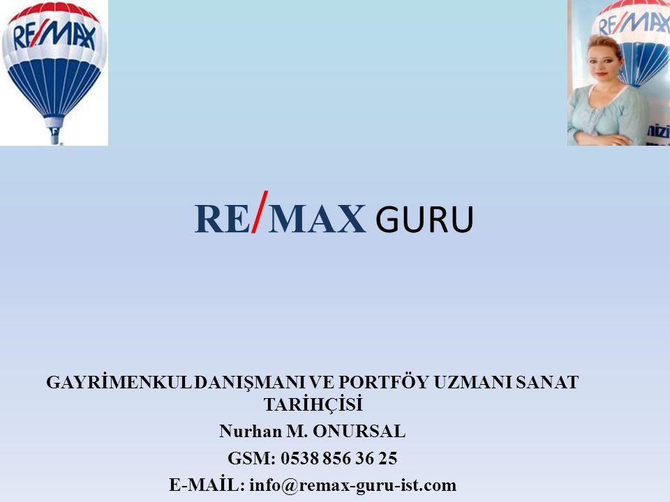 RE/MAX GURU GAYRİMENKUL DANIŞMANI VE PORTFÖY UZMANI SANAT TARİHÇİSİ