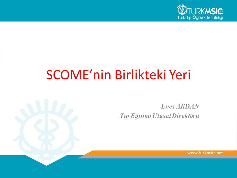 SCOME'nin Birlikteki Yeri