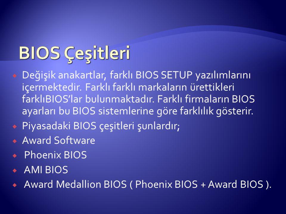 BIOS Çeşitleri