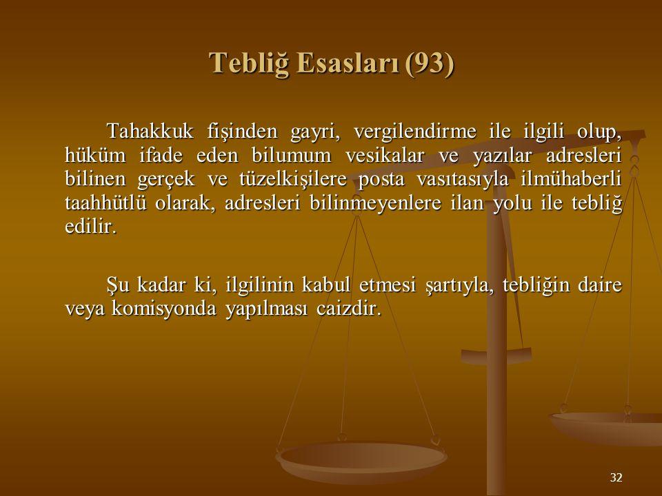 Tebliğ Esasları (93)