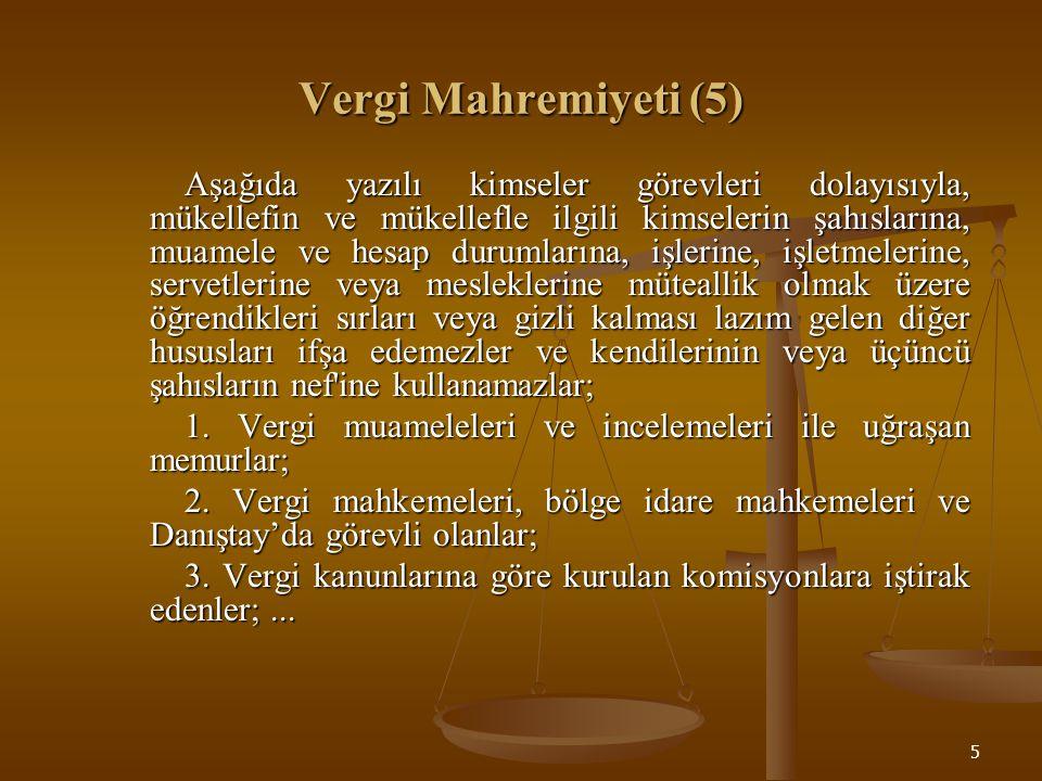 Vergi Mahremiyeti (5)