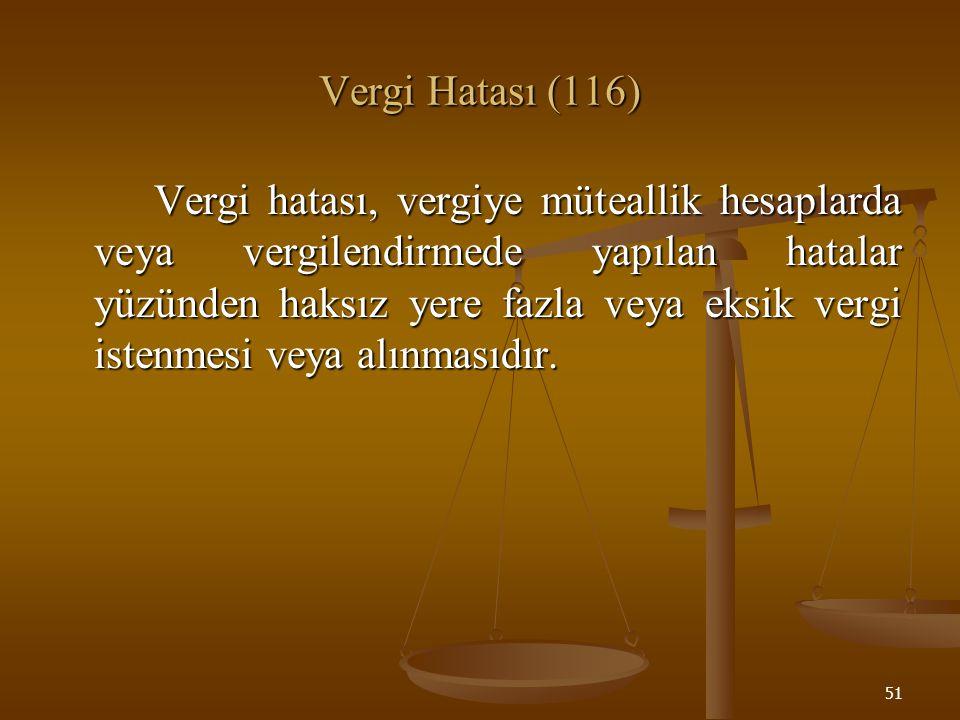 Vergi Hatası (116)