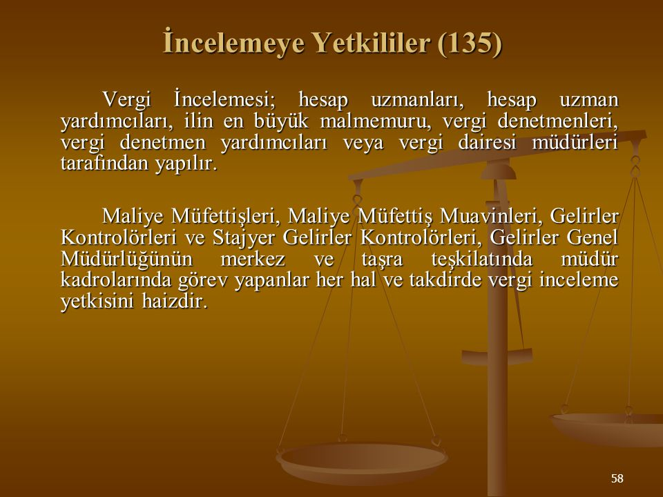 İncelemeye Yetkililer (135)