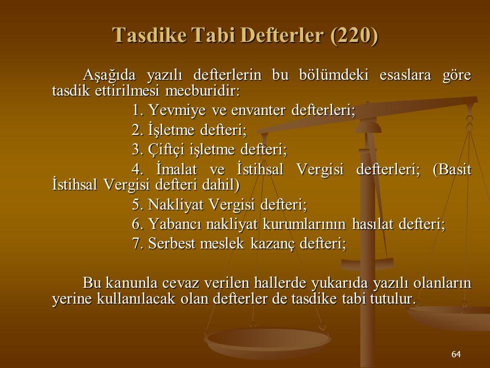 Tasdike Tabi Defterler (220)