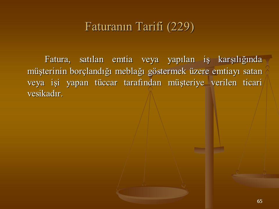 Faturanın Tarifi (229)