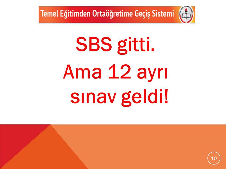SBS gitti. Ama 12 ayrı sınav geldi!
