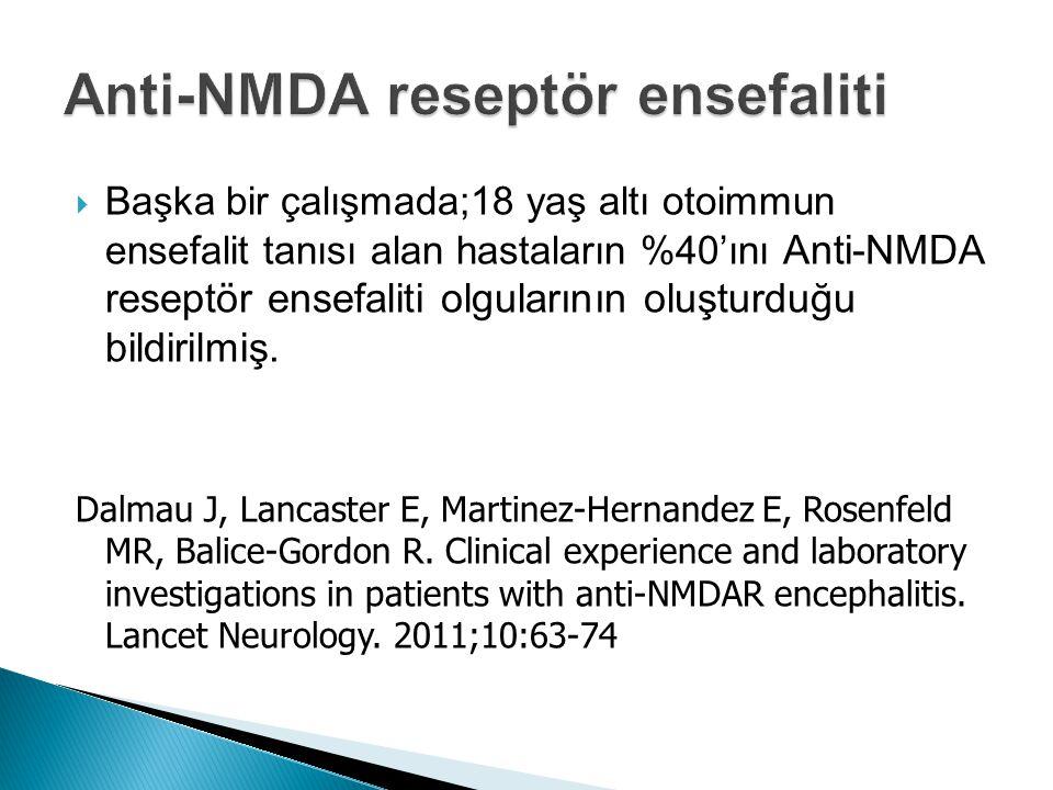 Anti-NMDA reseptör ensefaliti