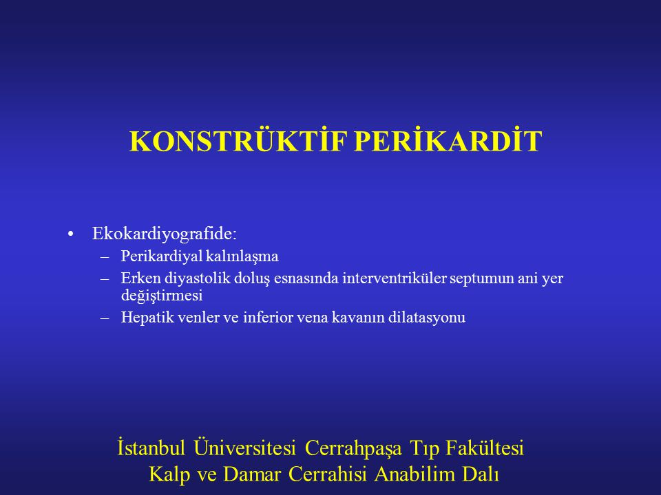 KONSTRÜKTİF PERİKARDİT