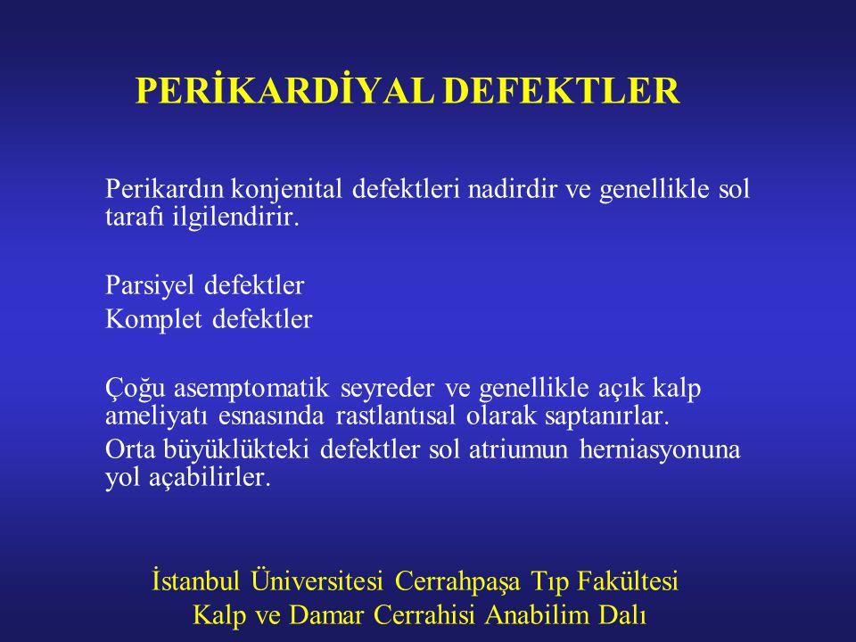 PERİKARDİYAL DEFEKTLER