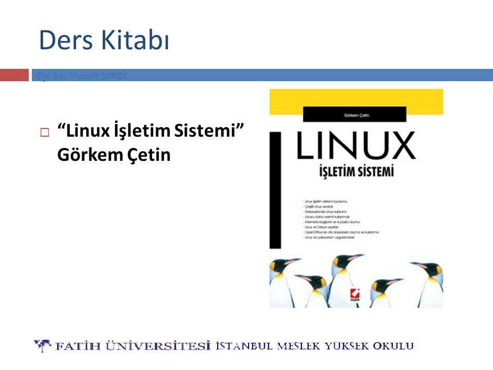 Ders Kitabı Linux İşletim Sistemi Görkem Çetin