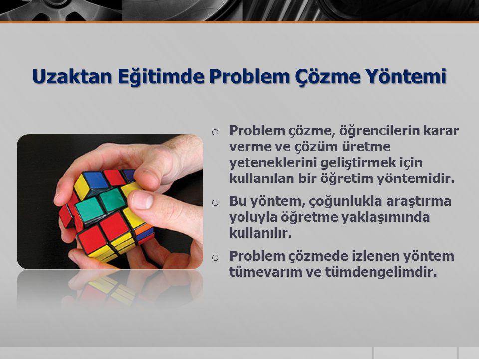 Uzaktan Eğitimde Problem Çözme Yöntemi