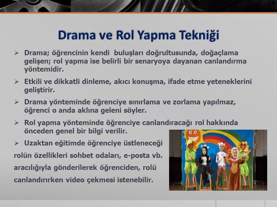 Drama ve Rol Yapma Tekniği