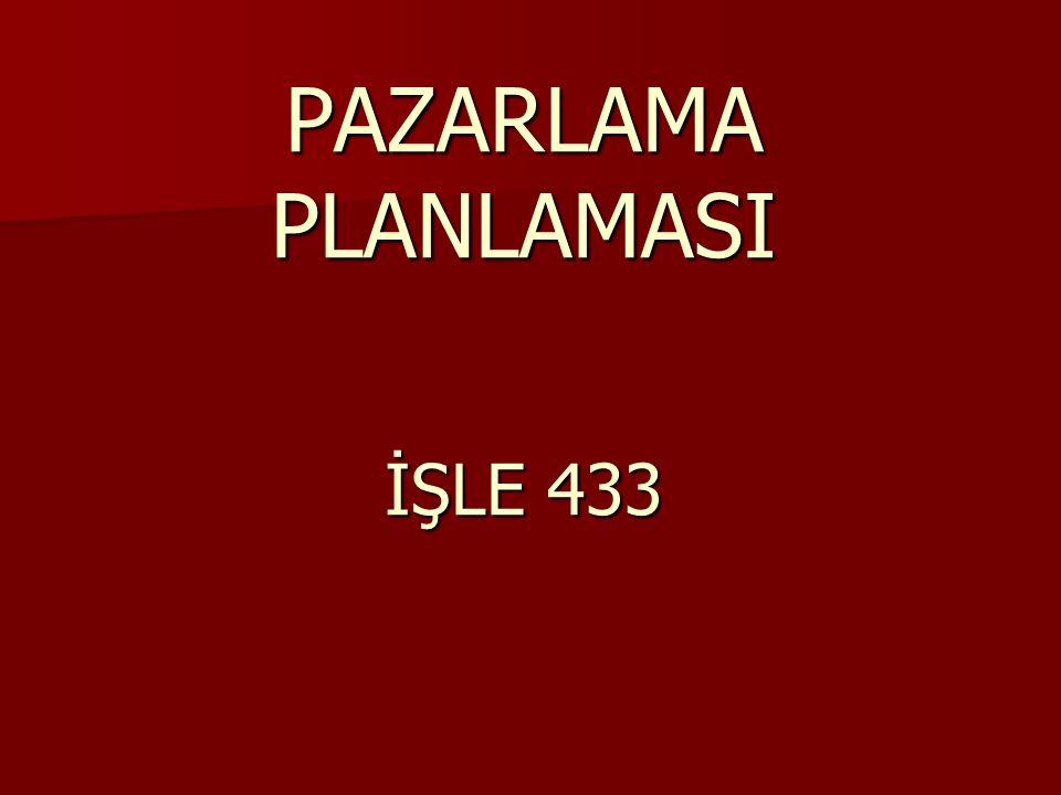 PAZARLAMA PLANLAMASI İŞLE 433