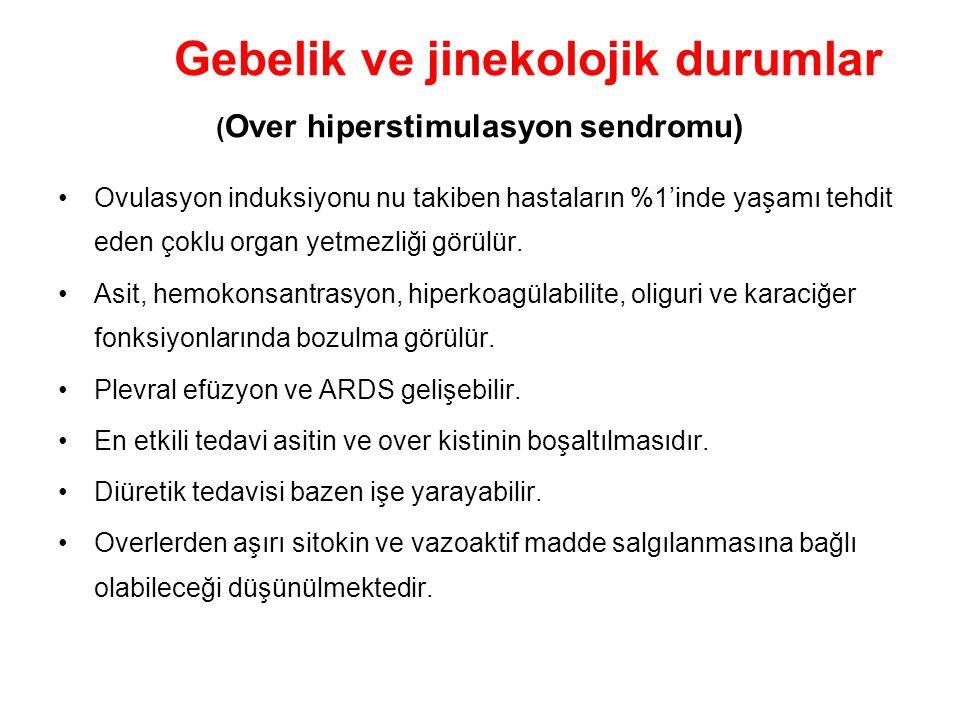 Gebelik ve jinekolojik durumlar (Over hiperstimulasyon sendromu)