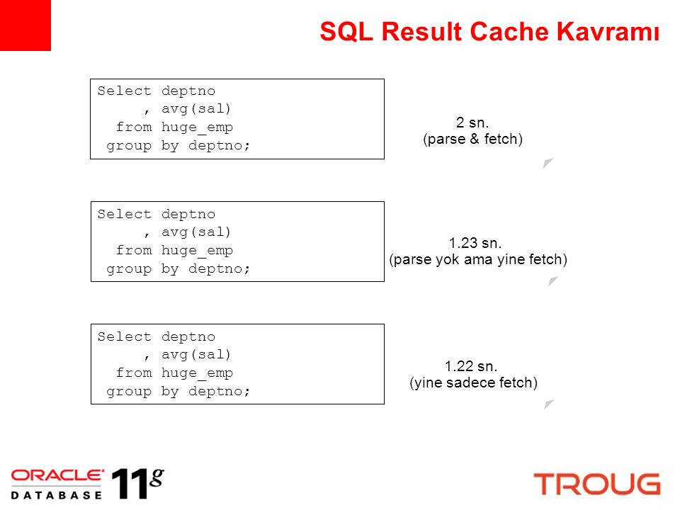 SQL Result Cache Kavramı