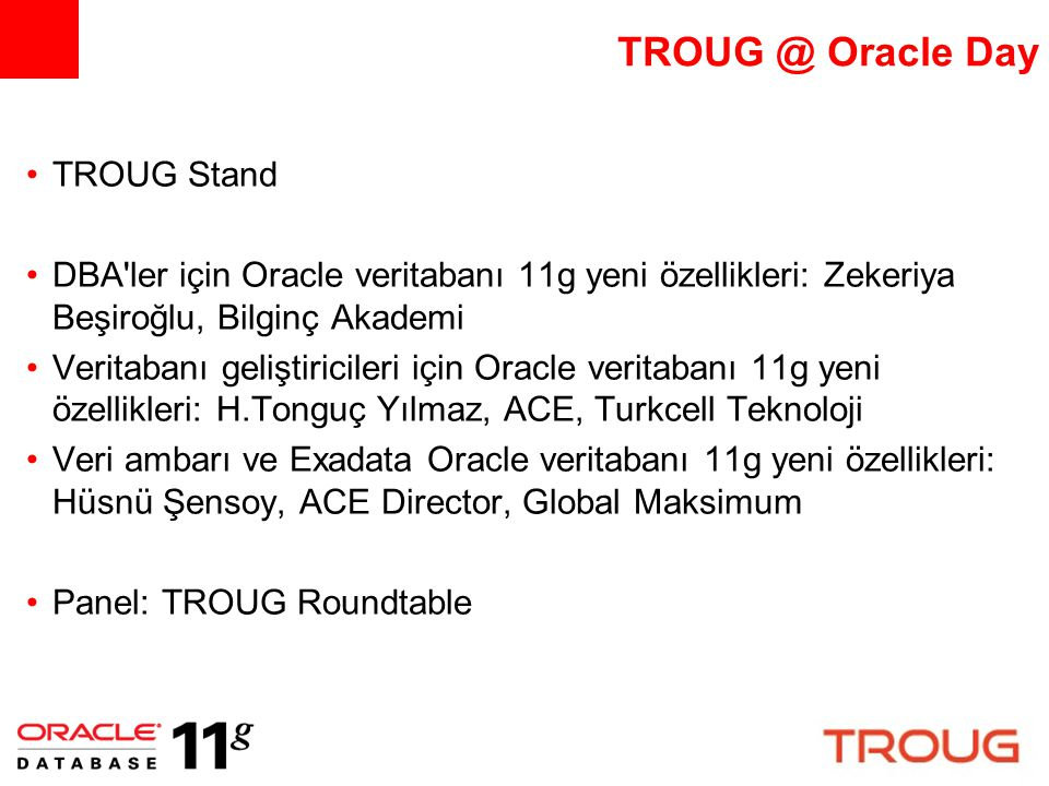 TROUG @ Oracle Day TROUG Stand