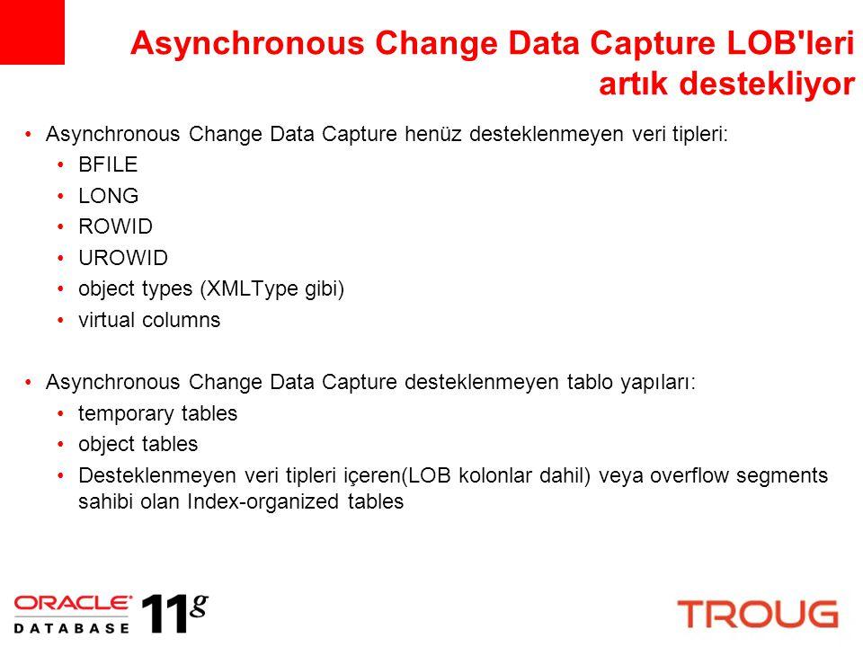 Asynchronous Change Data Capture LOB leri artık destekliyor