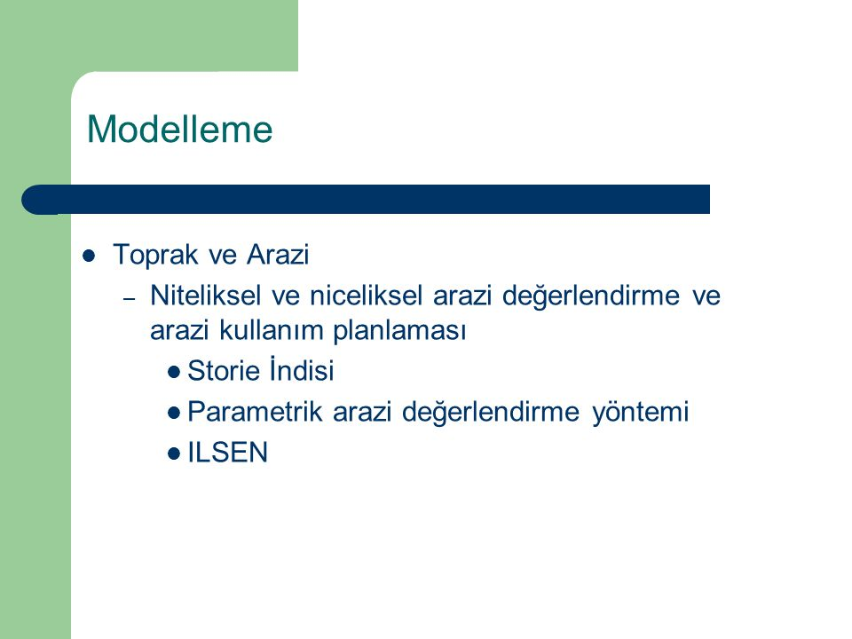 Modelleme Toprak ve Arazi