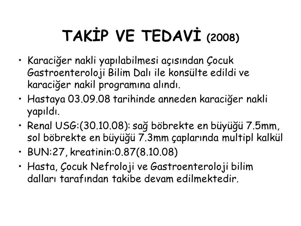 TAKİP VE TEDAVİ (2008)