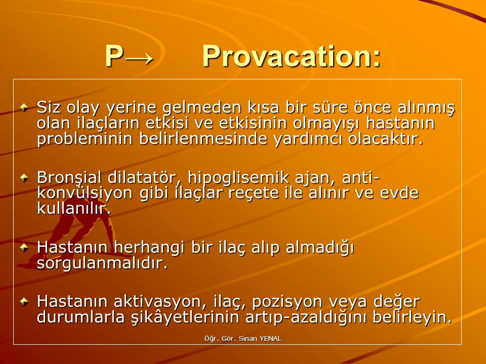 P→ Provacation: