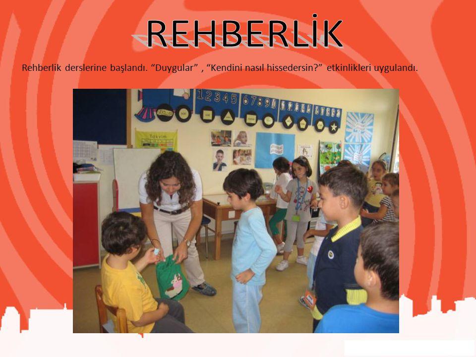 REHBERLİK Rehberlik derslerine başlandı.