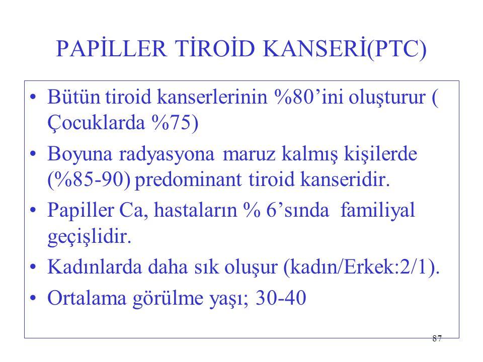 PAPİLLER TİROİD KANSERİ(PTC)